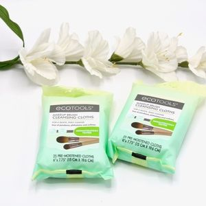 ECOTOOLS Makeup Brush Cleaning Cloths x2